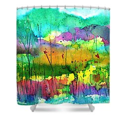 Desert In The Spring Shower Curtain