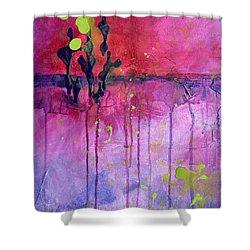 Desert Landscape Abstract Shower Curtain by Nancy Merkle