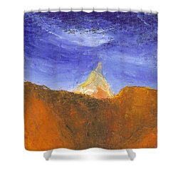 Desert Mountain Canyon Shower Curtain