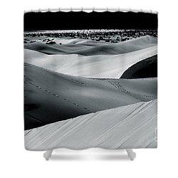 Desert Night Death Valley By Diana Sainz Shower Curtain by Diana Sainz