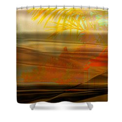 Shower Curtain featuring the digital art Desert Paradise by Paula Ayers