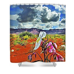 Desert Primrose 3 Shower Curtain