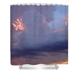 Desert Rainstorm 5 Shower Curtain by Kerri Mortenson