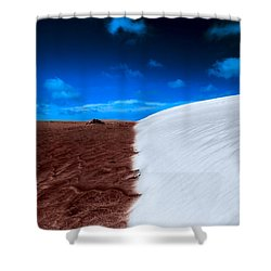 Desert Sand And Sky Shower Curtain