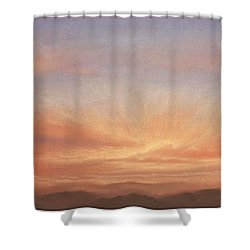 Desert Sky Triptych Shower Curtain