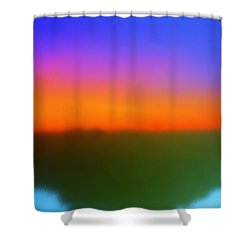 Desert Sun Abstract Shower Curtain