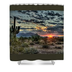 Desert Sunrise  Shower Curtain by Saija  Lehtonen