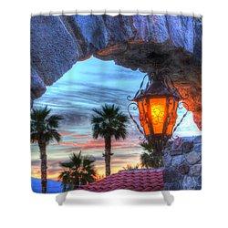 Desert Sunset View Shower Curtain by Heidi Smith