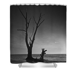 Deserted Beach Sunset Shower Curtain