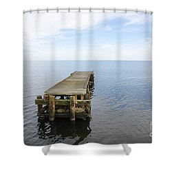 Deserted Jetty Shower Curtain