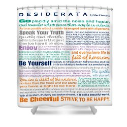 Desiderata - Multi-color - Square Format Shower Curtain