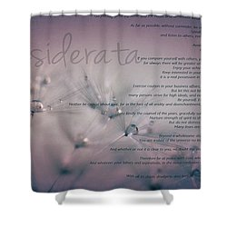 Shower Curtain featuring the photograph Desiderata - Dandelion Tears by Marianna Mills