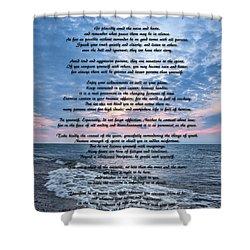 Desiderata Wisdom Shower Curtain