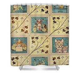 Design For Nursery Wallpaper Shower Curtain by Voysey