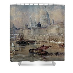 Design For The Thames Embankment Shower Curtain by Thomas Allom