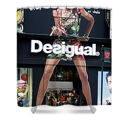 Desigual Storefront Shower Curtain