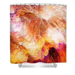 Desire - Abstract Art Shower Curtain by Jaison Cianelli