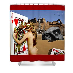 Desire And The Jack Of Hearts Shower Curtain by Keith Dillon