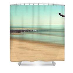 Desire - Light Shower Curtain by Hannes Cmarits