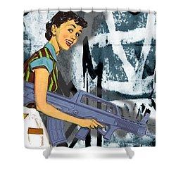 Desperate Housewife Shower Curtain by Tony Rubino