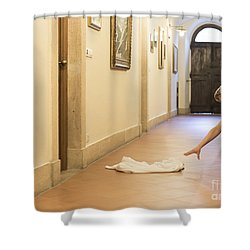 Desperate Shower Curtain by Mats Silvan