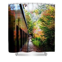 Shower Curtain featuring the photograph Destination by Faith Williams