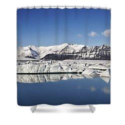 Destination - Iceland Shower Curtain by Evelina Kremsdorf