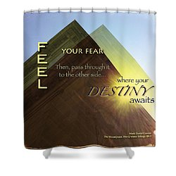 Your Destiny Waits Shower Curtain by Mark David Gerson