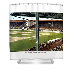Detroit - Navin Field - Detroit Tigers - Michigan And Trumbull Avenues - 1914 Shower Curtain