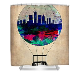 Detroit Air Balloon Shower Curtain by Naxart Studio