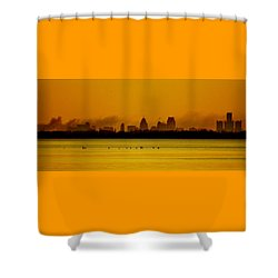 Detroit At Dawn Shower Curtain
