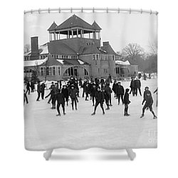 Detroit Michigan Skating At Belle Isle Shower Curtain by Anonymous