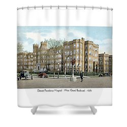 Detroit - Providence Hospital - West Grand Boulevard - 1926 Shower Curtain