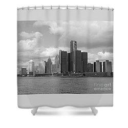 Detroit Skyscape Shower Curtain
