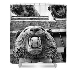 Detroit Tigers Comerica Park Tiger Statues Shower Curtain by Gordon Dean II