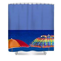 Deuce Umbrellas Shower Curtain