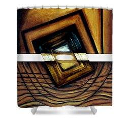 Shower Curtain featuring the painting Deversity View by Fei A