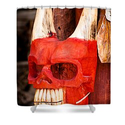 Devil In The Details Shower Curtain