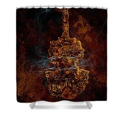Devils Fiddle Shower Curtain by Fran Riley