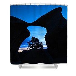 Devil's Garden Metate Arch 011 Shower Curtain