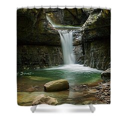 Devil's Pass Canyon Shower Curtain by Davorin Mance