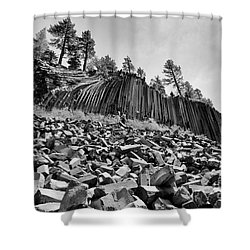 Devils Postpile National Monument Shower Curtain by Terry Garvin