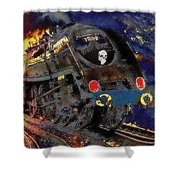 Devil's Train Shower Curtain by Pennie  McCracken