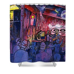 Dewey Paul Band At The Goat Shower Curtain by David Sockrider