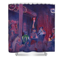 Dewey Paul Band At The Goat Nye Shower Curtain