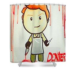 Dexter Shower Curtain by Marisela Mungia