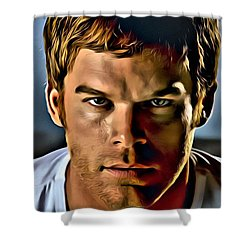 Dexter Portrait Shower Curtain