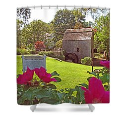 Dexters Grist Mill Two Shower Curtain by Barbara McDevitt