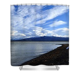 Dezadeash Lake Shower Curtain