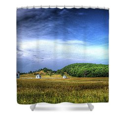 D. H. Day Farm Shower Curtain by Randy Pollard